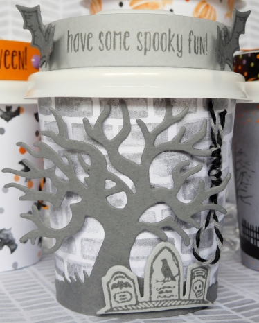 Little Paper Party, Mini Halloween Coffee Cup, close up1