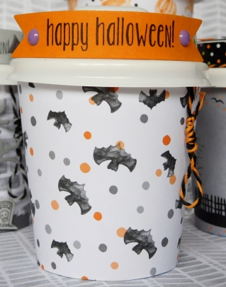 Little Paper Party, Mini Halloween Coffee Cup, close up2