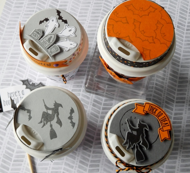 Little Paper Party, Mini Halloween Coffee Cup, lids2