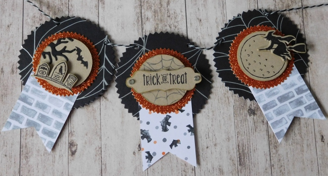 Little Paper Party, Trick or Treat banner