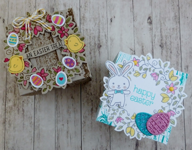 Little Paper Party, Basket Bunch Bundle, Circle of Spring, Easter explosion box