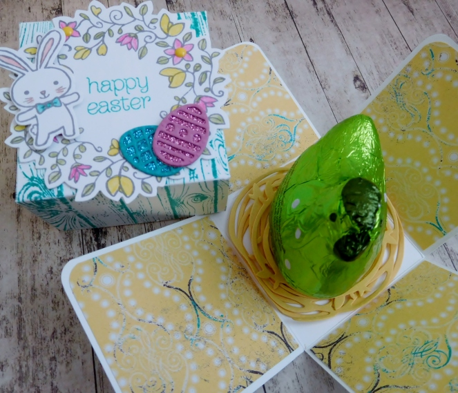 Little Paper Party, Basket Bunch Bundle, Circle of Spring, Easter explosion box6