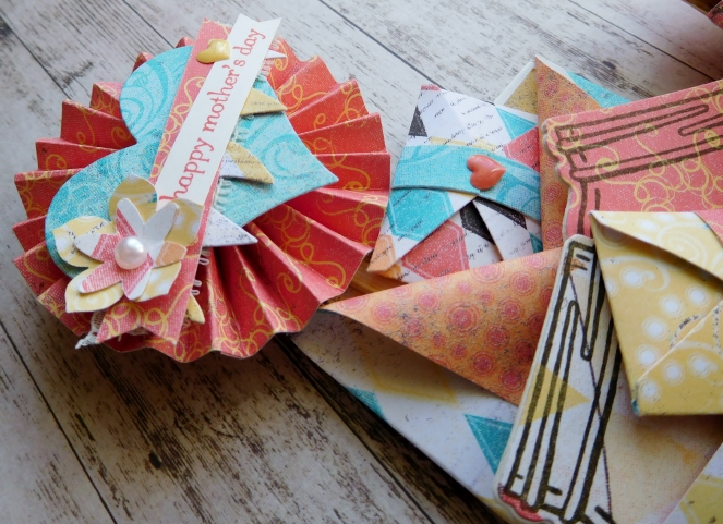 Little Paper Party, Cupcakes and Carousels DSP, Teeny Tiny Sentiments, Loaded Envelope closeup