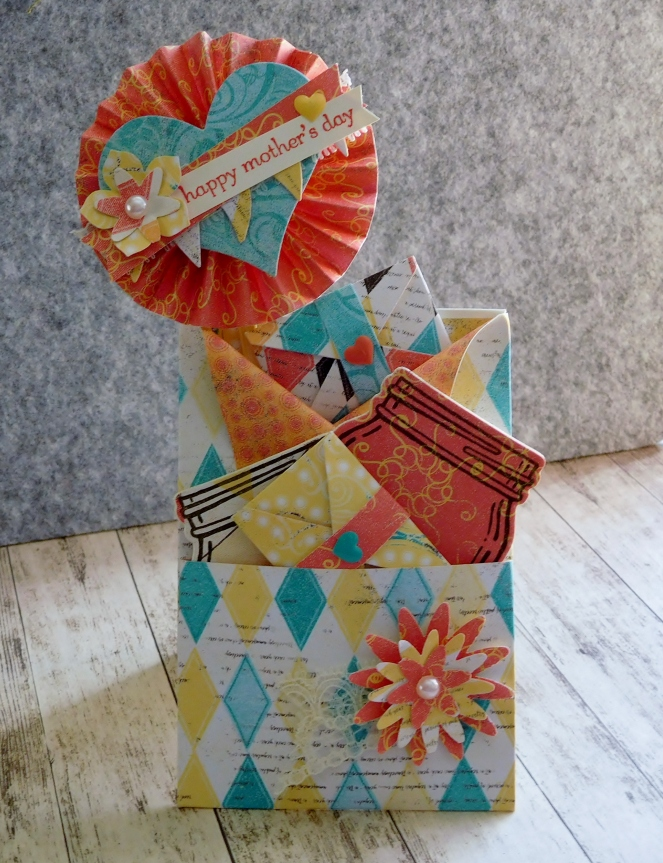 Little Paper Party, Cupcakes and Carousels DSP, Teeny Tiny Sentiments, Loaded Envelope standing2
