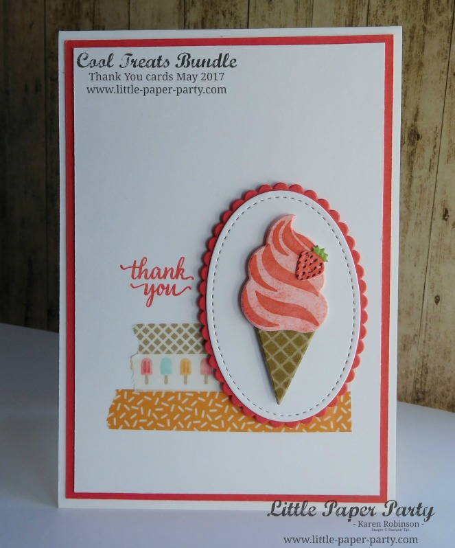 Little Paper Party, Cool Treats, Frozen Treats Framelits, Customer thank you card May 2017, #4
