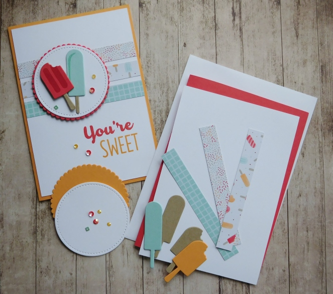 Little Paper Party, Cool Treats, Frozen Treats Framelits, FREE Card Kit, May 2017, contents