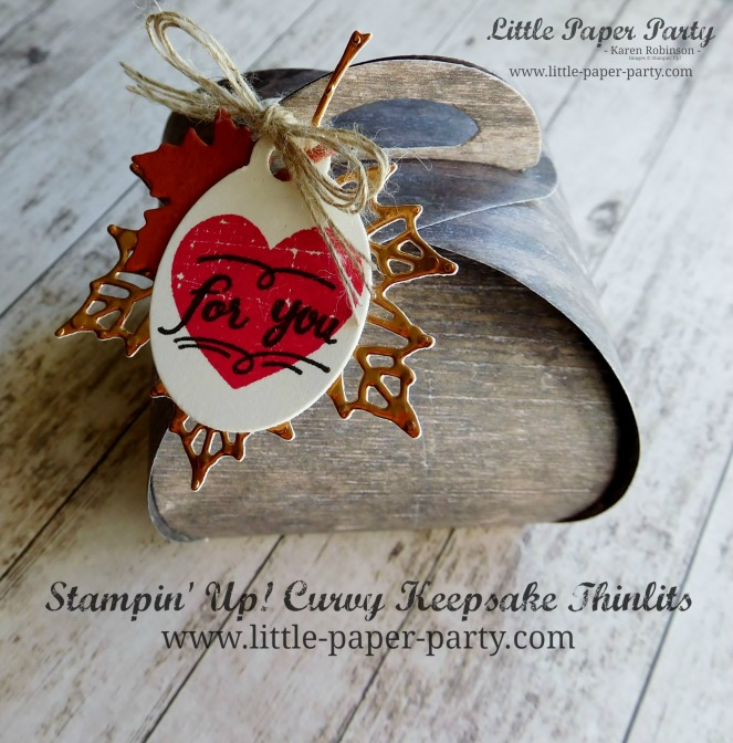 Little Paper Party, Curvy Keepsake Thinlits, Wood Textures DSP,#2