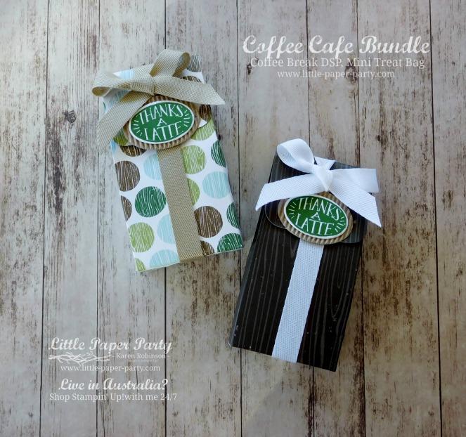 Little Paper Party, Coffee Cafe Bundle, Coffee Break DSP, Mini Treat Bag, #2