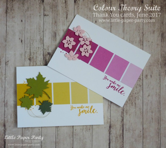 Little Paper Party, Colour Theory Bundle, Thank You cards June 2017 #2