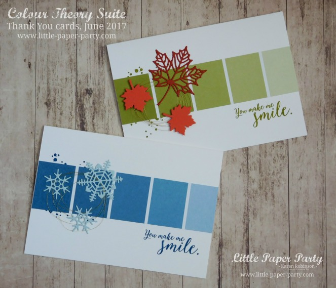 Little Paper Party, Colour Theory Bundle, Thank You cards June 2017 #3