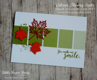 Little Paper Party, Colour Theory Bundle, Thank You cards June 2017 #4