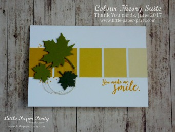 Little Paper Party, Colour Theory Bundle, Thank You cards June 2017 #7