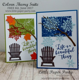 Little Paper Party, Colour Theory Suite, FREE Kit June 2017, #11