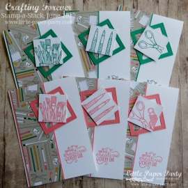 Little Paper Party, Crafting Forever, Pick a Pattern DSP, Stamp-a-Stack June 2017, #1