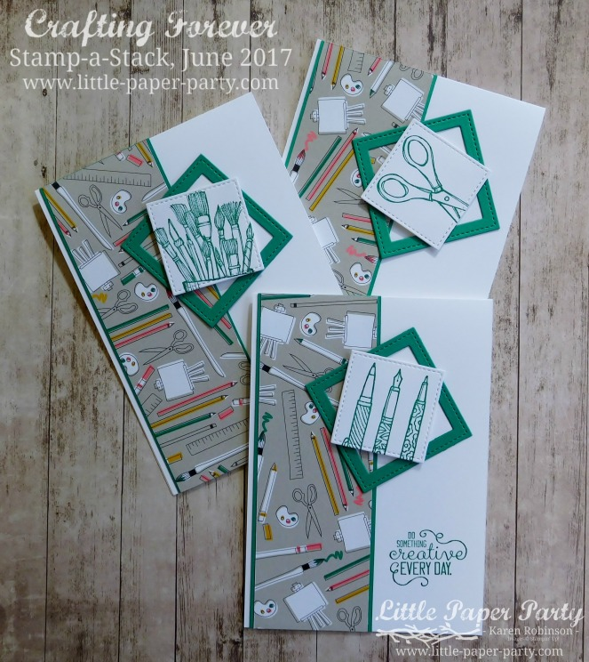 Little Paper Party, Crafting Forever, Pick a Pattern DSP, Stamp-a-Stack June 2017, #4