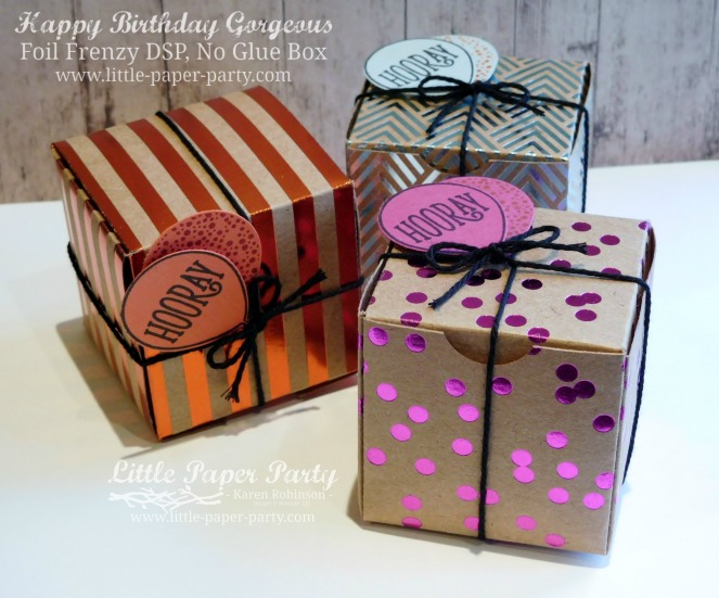 Little Paper Party, Happy Birthday Gorgeous, Foil Frenzy DSP, 3D, #1