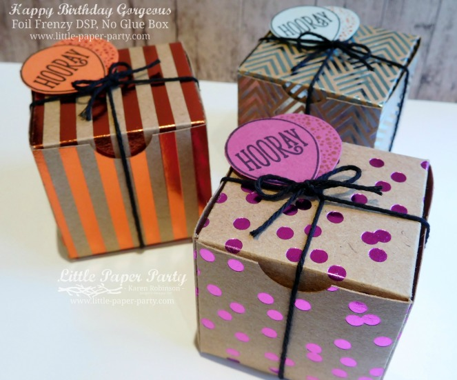 Little Paper Party, Happy Birthday Gorgeous, Foil Frenzy DSP, 3D, #2.jpg
