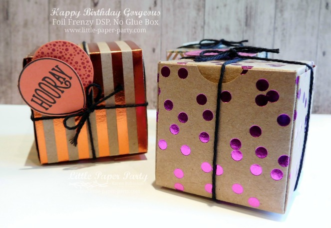 Little Paper Party, Happy Birthday Gorgeous, Foil Frenzy DSP, 3D, #3
