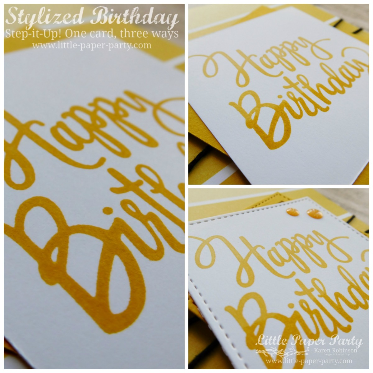 Stylized Birthday... Step-it-Up!