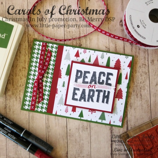 Little Paper Party, Carols of Christmas, Be Merry DSP, Christmas in July Promotion, #2