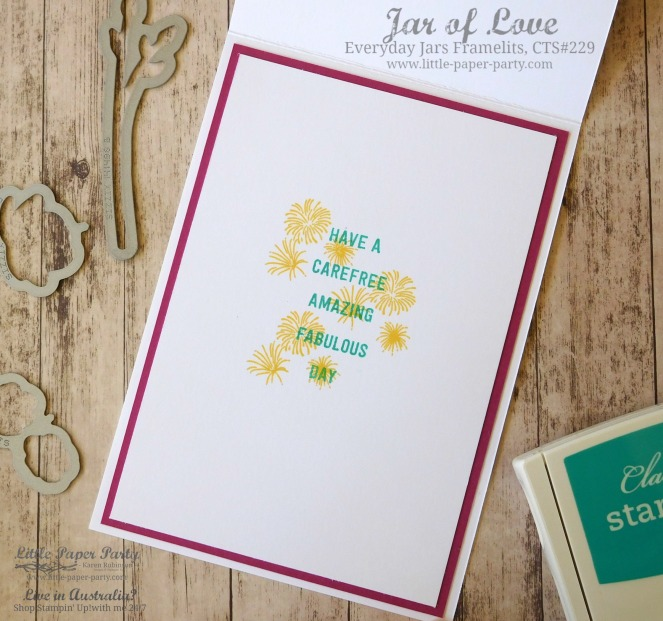 Little Paper Party, Jar of Love, Everyday Jar Framelits, CTS#229, #3