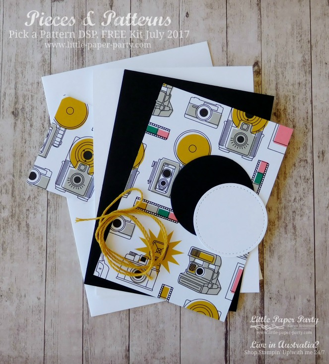 Little Paper Party, Pieces & Patterns, Pick a Pattern DSP, FREE Kit July 2017, #7