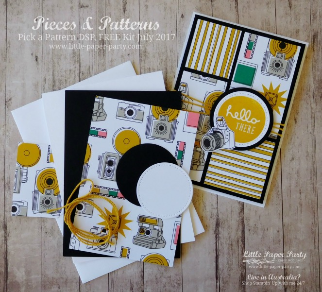 Little Paper Party, Pieces & Patterns, Pick a Pattern DSP, FREE Kit July 2017, #8.jpg
