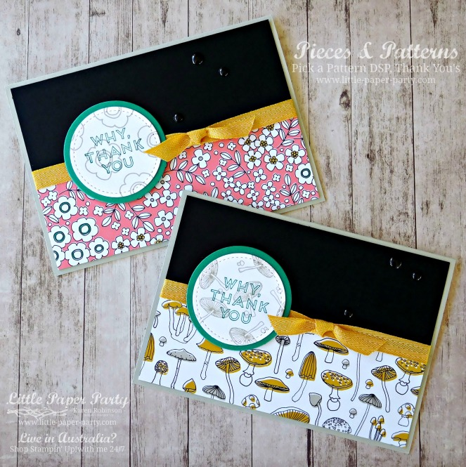 Little Paper Party, Pieces & Patterns, Pick a Pattern DSP, Thank You July 2017, #1