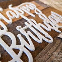 Happy Birthday, textures of wood