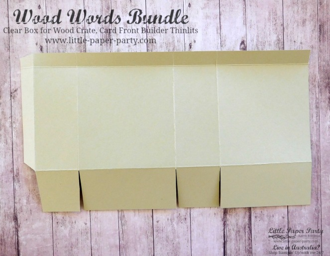 Little Paper Party, Wood Words Bundle, Card Front Builder Thinlits, Clear Box, #5