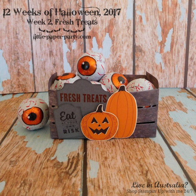 Little Paper Party, 12 Weeks of Halloween 2017, #2, Wood Crate Framelits, #4