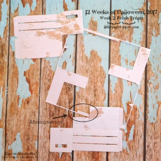 Little Paper Party, 12 Weeks of Halloween 2017, #2, Wood Crate Framelits, #5