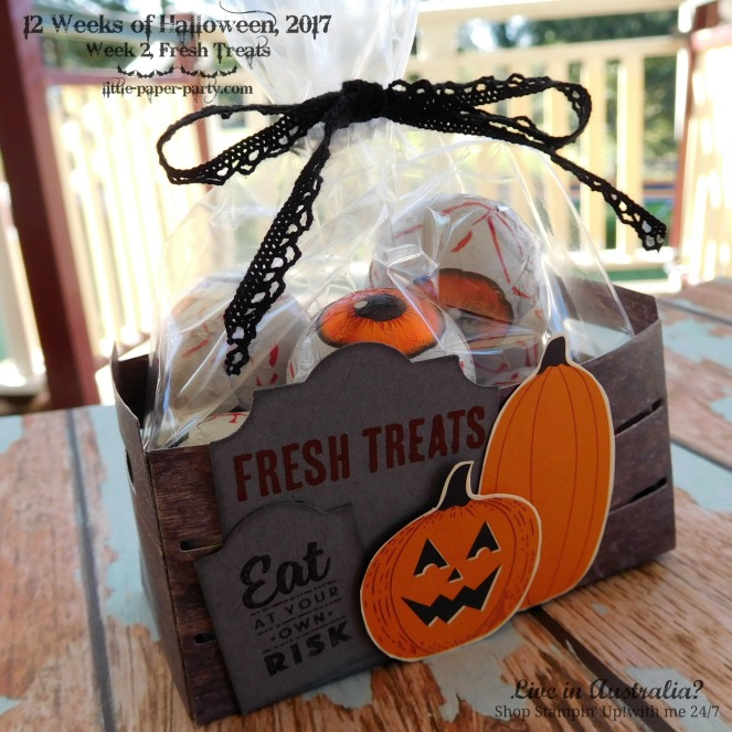 Little Paper Party, 12 Weeks of Halloween 2017, #2, Wood Crate Framelits, #7