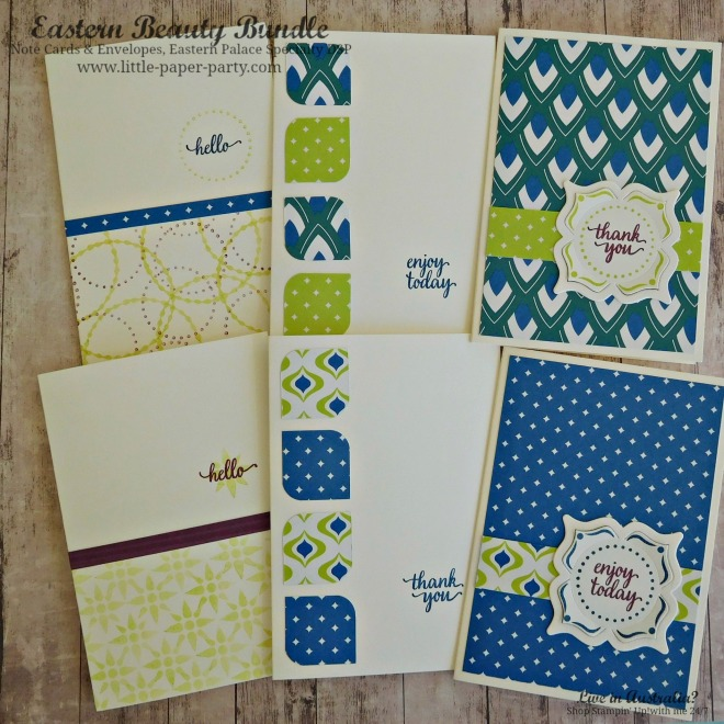 Little Paper Party, Eastern Beauty Bundle, Eastern Palace Specialty DSP, Note Cards & Envelopes, #1