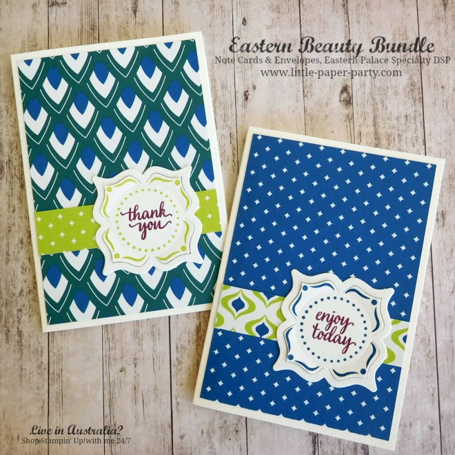 Little Paper Party, Eastern Beauty Bundle, Eastern Palace Specialty DSP, Note Cards & Envelopes, #3