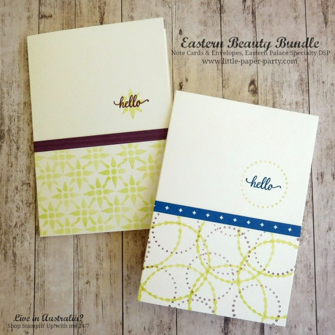 Little Paper Party, Eastern Beauty Bundle, Eastern Palace Specialty DSP, Note Cards & Envelopes, #5