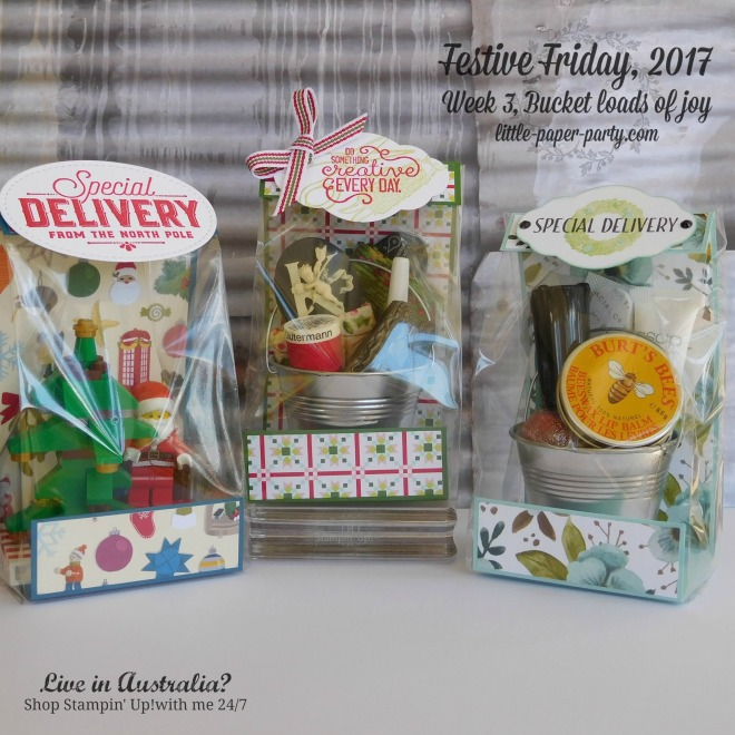 Little Paper Party, Festive Friday 2017, 3 x 6 Gusseted Bags, Fete and Fair Ideas, #1