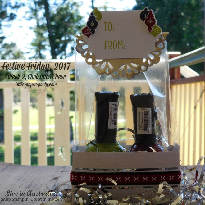 Little Paper Party, Festive Friday 2017, Wood Crate Framelits, Tin of Tags, #2
