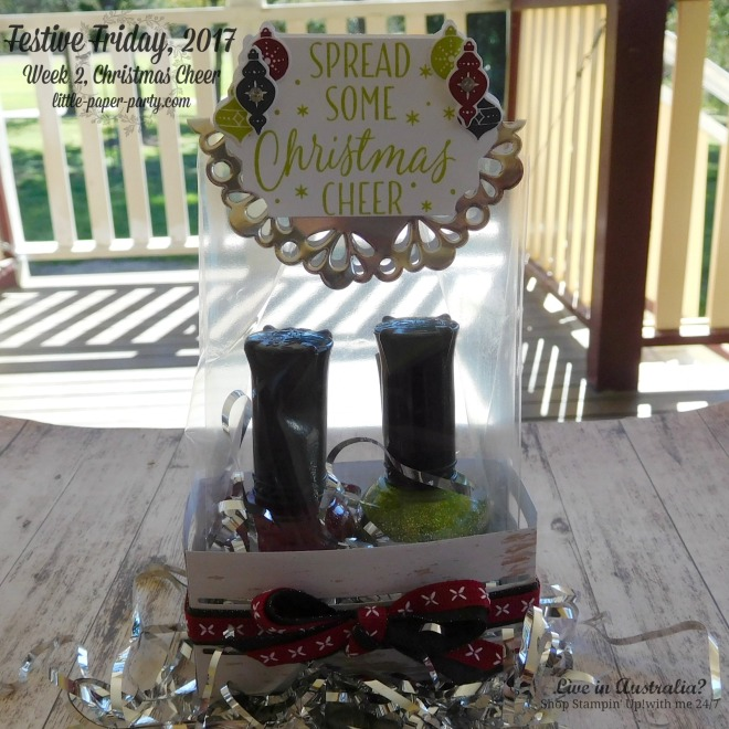 Little Paper Party, Festive Friday 2017, Wood Crate Framelits, Tin of Tags, #3.jpg