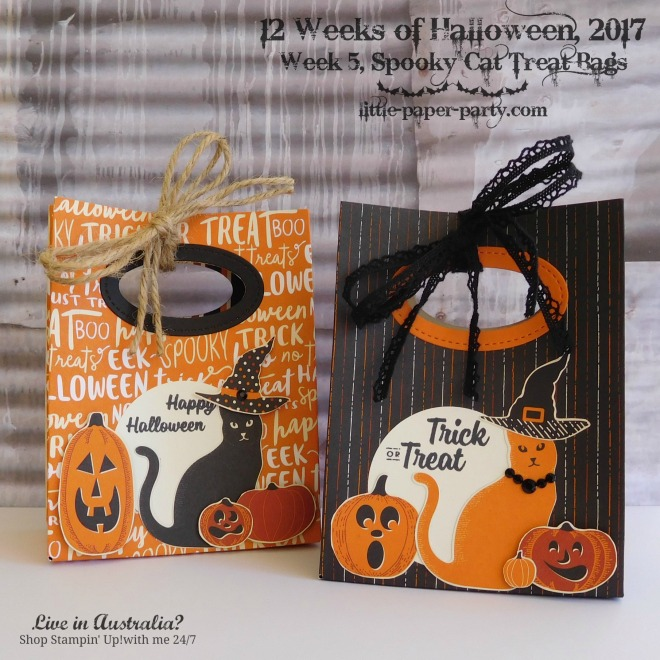 Little Paper Party, 12 Weeks of Halloween 2017, Spooky Cat Bundle, Spooky Night DSP, Gift Bag Punch Board, #2.jpg
