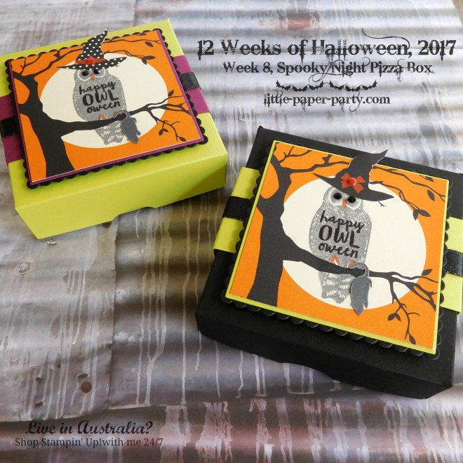 Little Paper Party, 12 Weeks of Halloween 2017, Spooky Cat, Spooky Night DSP, Pizza Box, #4.jpg