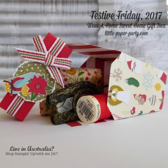 Little Paper Party, Festive Friday 2017, Home Sweet Home Thinlits. Christmas Around the World DSP, #6