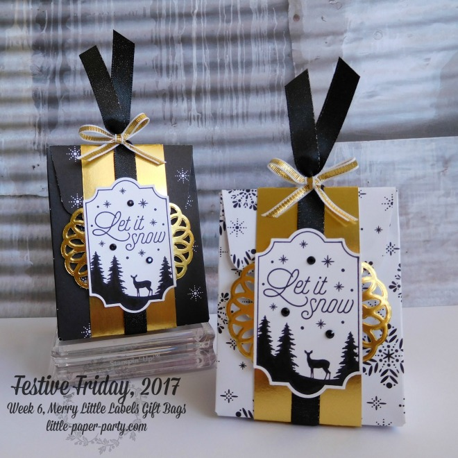 Little Paper Party, Festive Friday 2017, Merry Little Labels, Merry Little Christmas DSP, Gift Bag Punch Board, #1.jpg