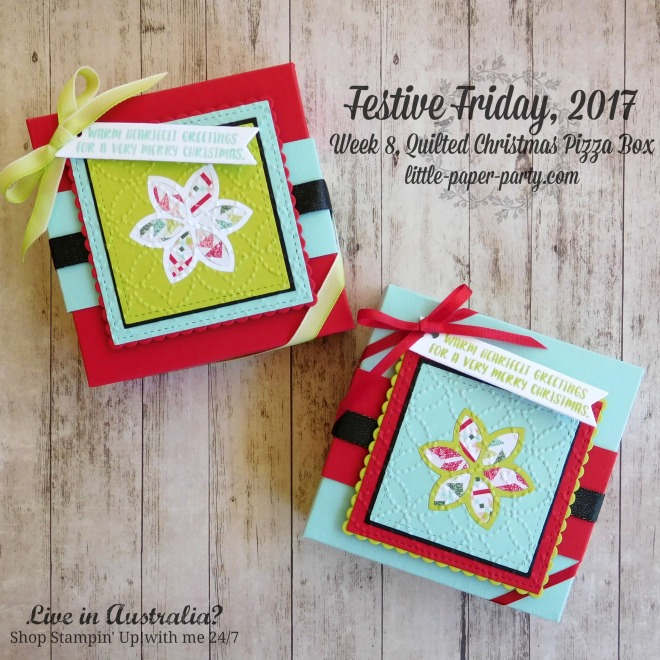Little Paper Party, Festive Friday 2017, Quilt Builder Framelits, Quilt Top TIEF, Cookie-Cutter Christmas, #1