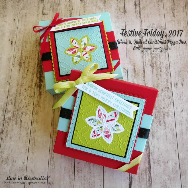 Little Paper Party, Festive Friday 2017, Quilt Builder Framelits, Quilt Top TIEF, Cookie-Cutter Christmas, #3