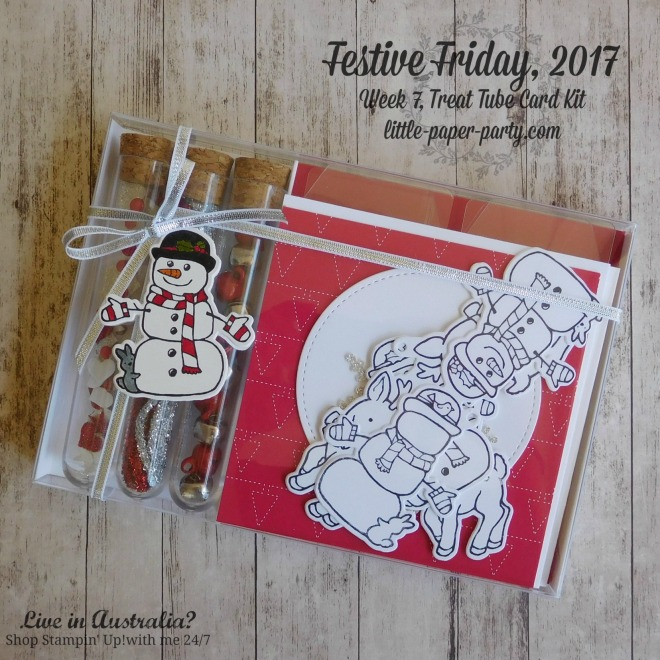 Little Paper Party, Festive Friday 2017, Seasonal Chums Bundle, Treat Tubes, Acetate Card Boxes, #1