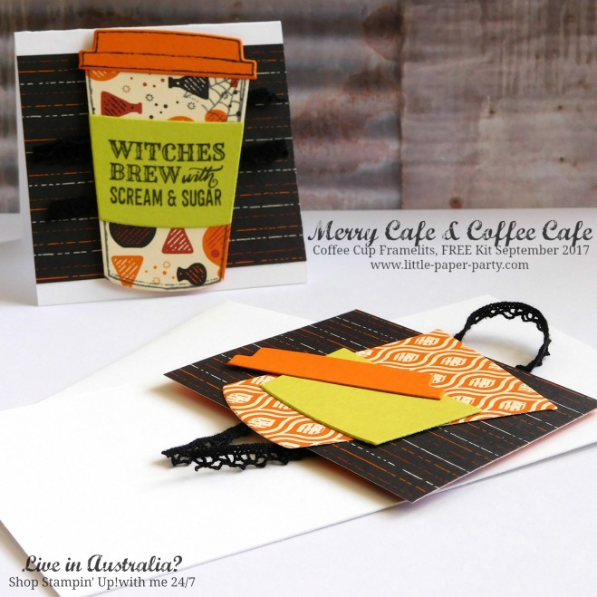 Little Paper Party, Merry Cafe, Coffee Cafe, Coffee Cup Framelits, FREE Kit September 2017, #6.jpg