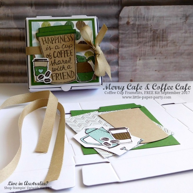 Little Paper Party, Merry Cafe, Coffee Cafe, Coffee Cup Framelits, FREE Kit September 2017, #9.jpg