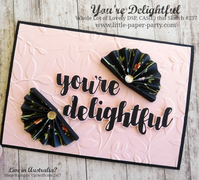 Little Paper Party, You're Delightful, Whole Lot of Lovely DSP, CTS#237, #1