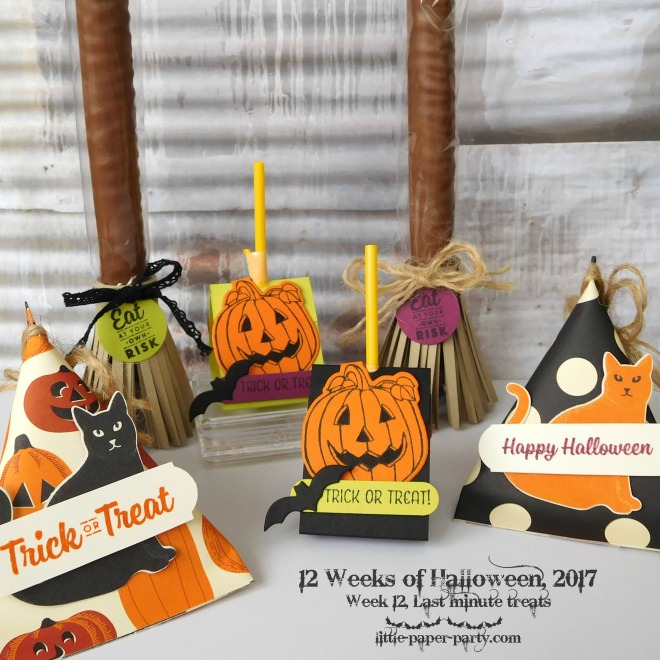 Little Paper Party, 12 Weeks of Halloween 2017, Spooky Cat Bundle, Seasonal Chums Bundle, Spooky Night DSP, #2